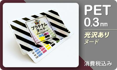 名刺用カード(プラチナムヌード/PET0.3mm/86x54mm/ハイブリット印刷)